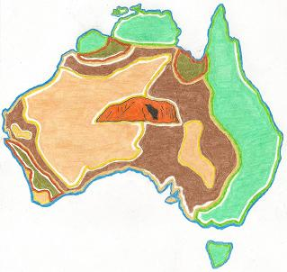Australia Map Ks1.Assembly Ideas Primary School Ks1 Ks2