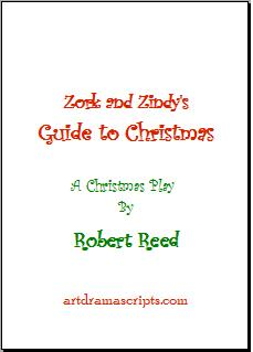 Zork and Zindy's Guide to Christmas play script for kids cover